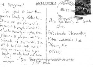 Back of Postcard from Antarctica